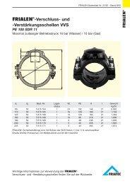 FRIALEN®-Verschluss- und -Verstärkungsschellen VVS