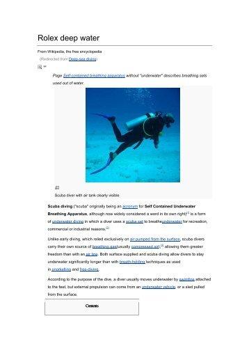 Rolex deep water - GINAULT