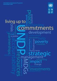Annual Report 2009 - United Nations Development Programme