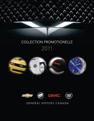 COLLECTION PROMOTIONELLE - GM Canada