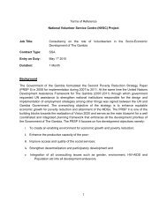 Terms of Reference for a Consultancy on the role of volunteerism in ...