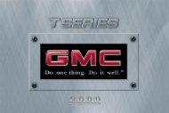 2000 GMC Truck T Series - GM Canada