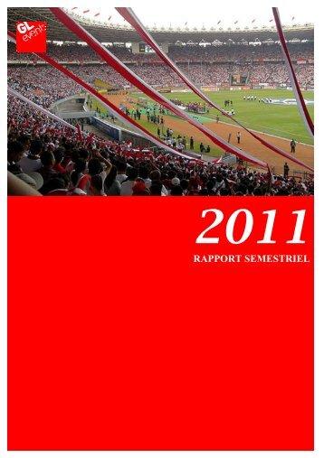 Rapport Semestriel 2011 - GL events