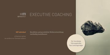 EXECUTIVE COACHING - GIP Institut