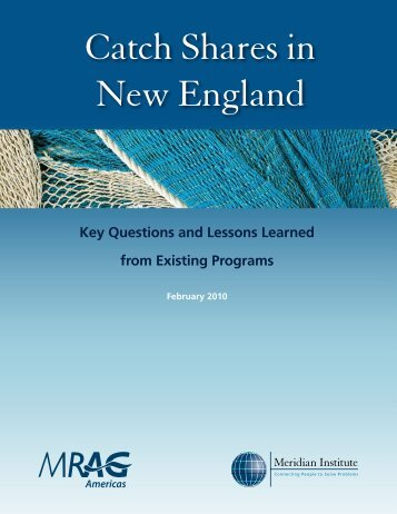 Catch Shares in New England - New England Fishery Management ...