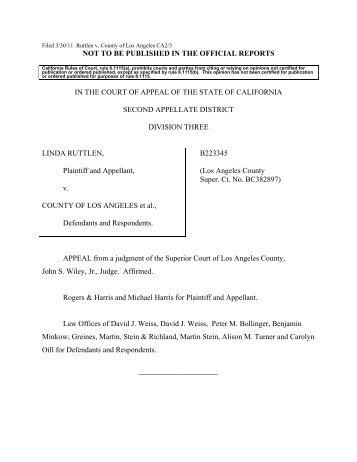 Ruttlen v. County of Los Angeles - Greines, Martin, Stein & Richland ...