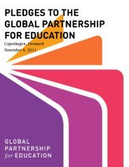 Pledges to the Global Partnership for Education