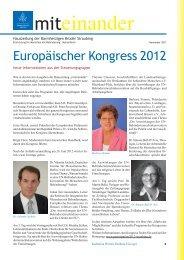 Europäischer Kongress 2012 - Barmherzigen Brüder Straubing