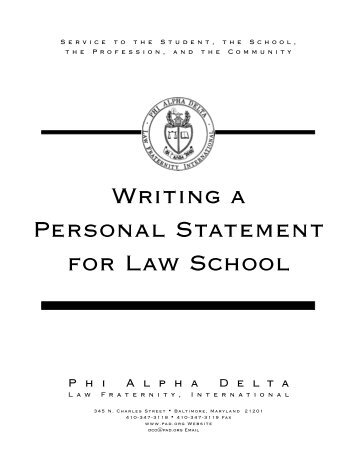 how to write a good personal statement for law school