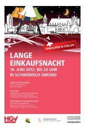 Lange Einkaufsnacht Gmünd (2,63 MB) - Schwäbische Post