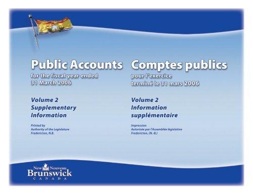 foto de Information supplémentaire - Gouvernement du Nouveau-Brunswick