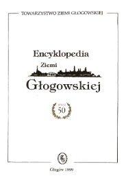ENCYKLOPEDIA ZIEMI G£OGOWSKIEJ - Zeszyt 50. - Głogów
