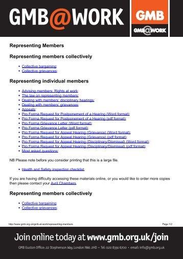 Representing Membersx - GMB