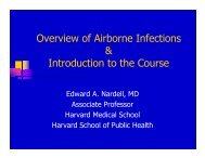 Overview of Airborne Infections & Introduction to the ... - GHDonline