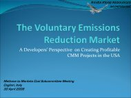 The Voluntary Emissions Reduction Markets - Global Methane ...