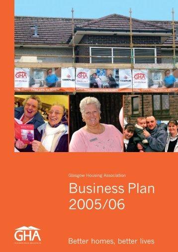 2005/06 Business Plan - Glasgow Housing Association