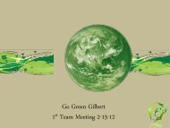 Go Green Gilbert 1st Team Meeting 2-15-12 - Town of Gilbert