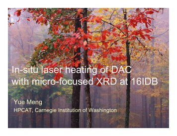 In-situ laser heating of DAC with micro-focused XRD at 16IDB