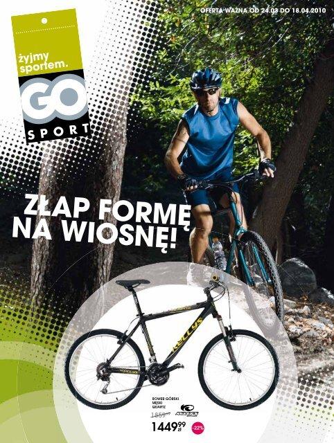 """Gazetka promocyjna """"Złap formę na wiosnę"""" - Go Sport"""