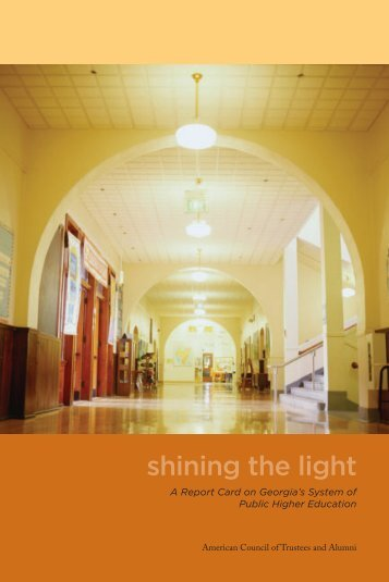 shining the light - The American Council of Trustees and Alumni