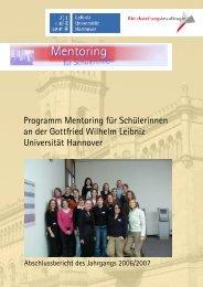 Mentoring für Schülerinnen Abschlussbericht 2006/2007