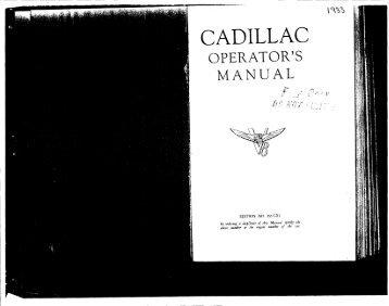 1933 Cadillac V8 - GM Heritage Center