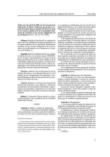 Libros de Texto: Gestión del uso gratuito en los centros públicos