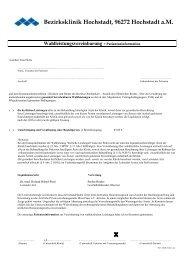 Wahlleistungsvereinbarung + Patienteninformation