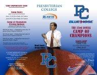 Team Camp - Presbyterian College Athletics