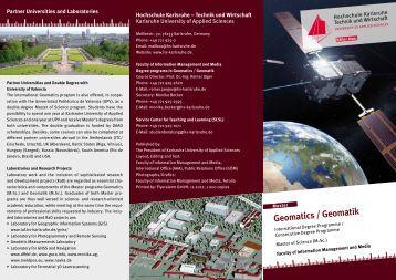 Geomatics / Geomatik - Hochschule Karlsruhe – Technik und ...