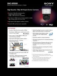 Brochure - Sony Professional Solutions Asia Pacific