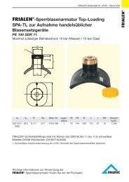 FRIALEN®-Sperrblasenarmatur Top-Loading SPA-TL zur Aufnahme ...