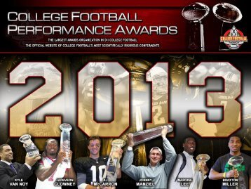 2013 CFPA FCS Offensive Awards Watch List - College Football ...
