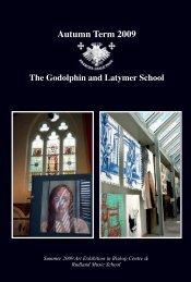 autumn term 2009 - The Godolphin and Latymer School