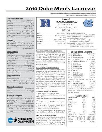 Game Notes - Duke University Athletics