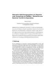 Alternative Abdichtungssysteme von Deponien unter Verwertung ...