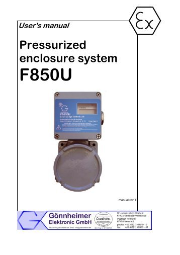 User manual F850 - Goennheimer.de