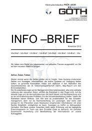 Info-Brief - Info-Brief – Info-Brief - Info-Brief – Info-Brief - GOETH GmbH