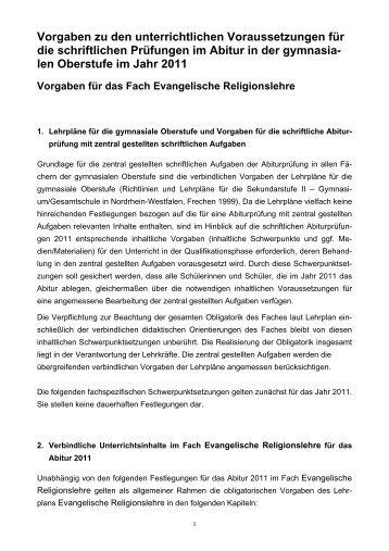 Vorgaben zu den unterrichtlichen Voraussetzungen ... - Goetheschule