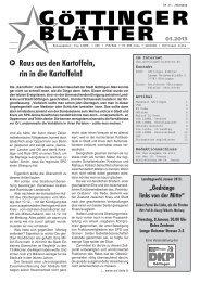 Göttinger Blätter 01 / 2013 - Göttinger Linke