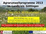Informationen zu Agrarumweltmaßnahmen 2013 - Galerie Göttinger ...