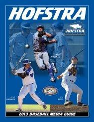2013 baseball Media Guide - GoHofstra.com