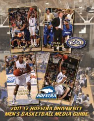 2011-12 Hofstra Men's Basketball Media Guide - GoHofstra.com