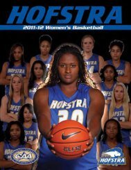 2011-12 Hofstra Women's Basketball Media Guide - GoHofstra.com