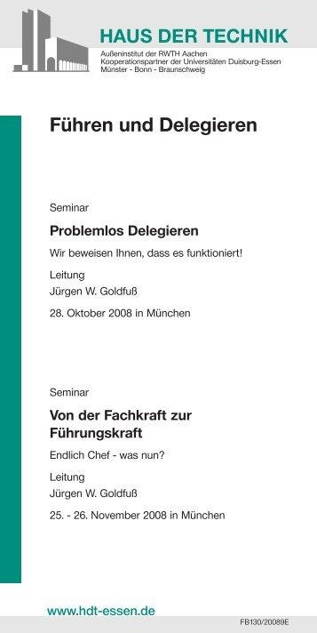 Führen und Delegieren - Jürgen W. Goldfuß