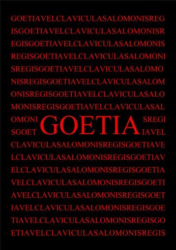 Goetia - Holy Order of the Golden Dawn Canada