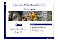 Die Branche - GKWi - TU Berlin