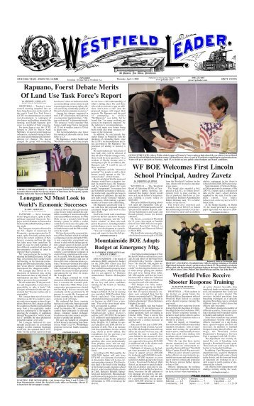 08apr03 newspaper - The Westfield Leader