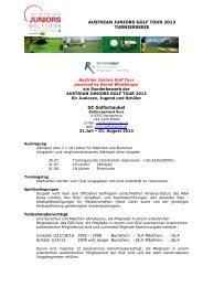 Austrian Juniors Golf Tour 2013 Turnierserie - Österreichischer Golf ...