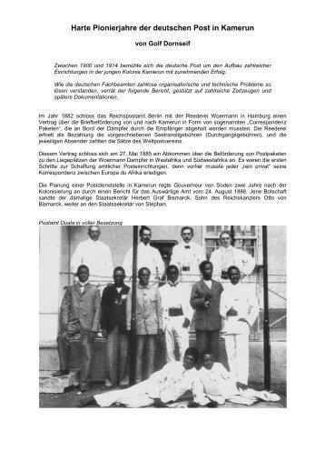 Pionierjahre der deutschen Post in Kamerun - Golf Dornseif
